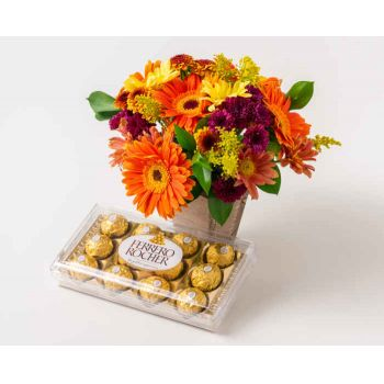Rio De Janeiro online Florist - Median Arrangement of Colorful Field Flowers  Bouquet