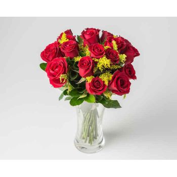 Recife online Florist - Celebrate with Red Roses Bouquet