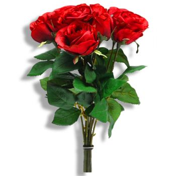 Adra online Florist - Red tear drop Bouquet