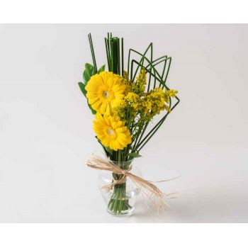 Salvador online Florist - Two Gerberas in Vase Bouquet