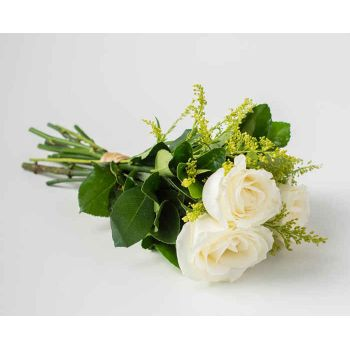 Votorantim flowers  -  Bouquet of 3 White Roses Flower Delivery