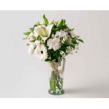 Belém online Florist - Arrangement of White Lilies and Field Flowers Bouquet