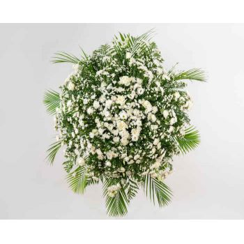 Belém online Florist - Luxurious Crown of Condolences Bouquet