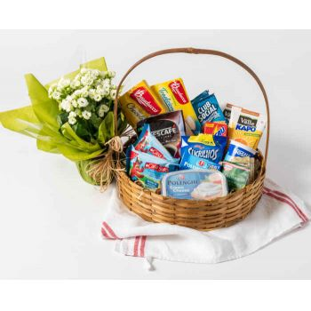 Recife online Florist - Classic Breakfast Basket Bouquet