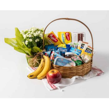 Belém online Florist - Good Morning Coffee Basket Bouquet