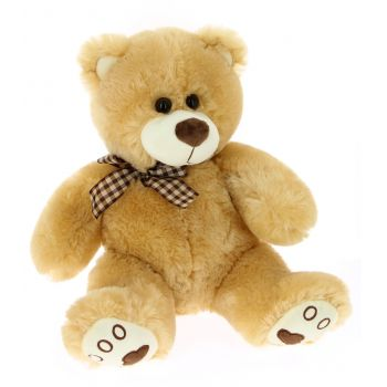 Getxo bunga- Brown Teddy Bear  Penghantaran