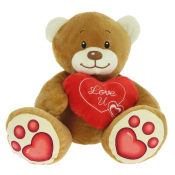 Spain flowers  -  Brown Teddy Bear Delivery