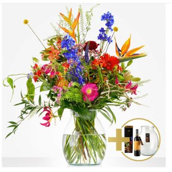 Wisch flowers  -  Gift package Generous Flower Delivery