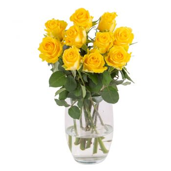 Duisburg flowers  -  Golden heart Flower Bouquet/Arrangement