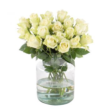 Minden flowers  -  White innocence Flower Delivery