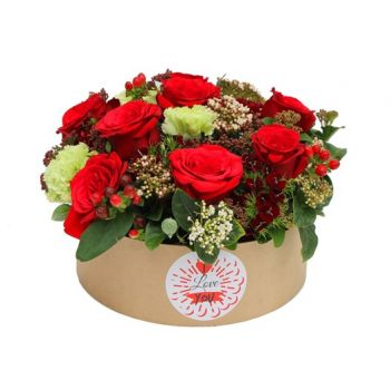 Qubayyat flowers  -  I Love you Basket Flower Delivery