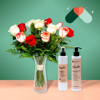 Alboraia online Florist - Tunisia and Cosmetic Kit Bouquet