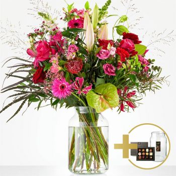 The Hague online Florist - Gift package Passionate Bouquet