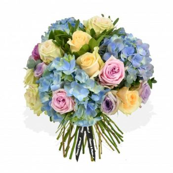 Bridgend flowers  -  Spring Blue Flower Delivery