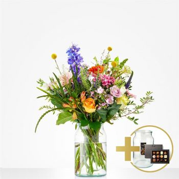 Goes flowers  -  Gift package Luxury Flower Delivery