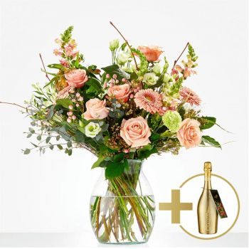 Britsum flowers  -  Bouquet Stylish with Bottega Flower Delivery