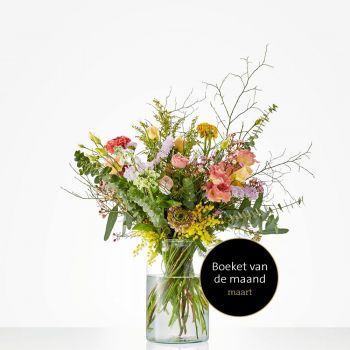 Naaldwijk flowers  -  Monthly bouquet March Flower Delivery