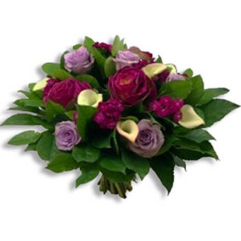 Halle flowers  -  Purple Flower Delivery