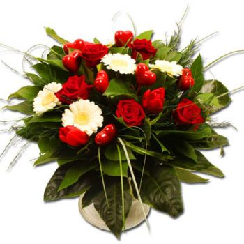 Tubize flowers  -  Red&White Flower Delivery