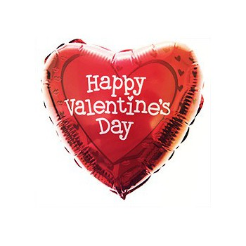Internet Florist flowers  -  Happy Valentine's Day Balloon  Delivery