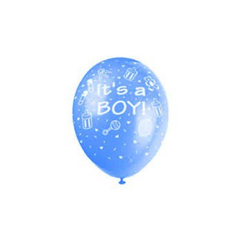 Dominica bloemen bloemist- Its a Boy ballon  Bloem Levering