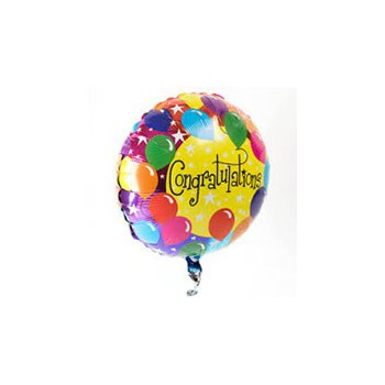 Casablanca flowers  -  Congratulations Balloon  Delivery