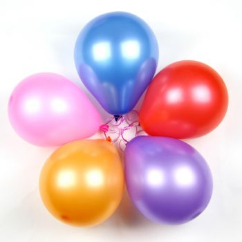 Ayas flowers  -  5  Mixed Balloons (no helium)  Delivery