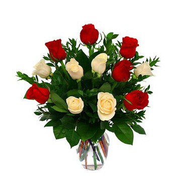 Bkerke flowers  -  I Love you Roses Flower Delivery