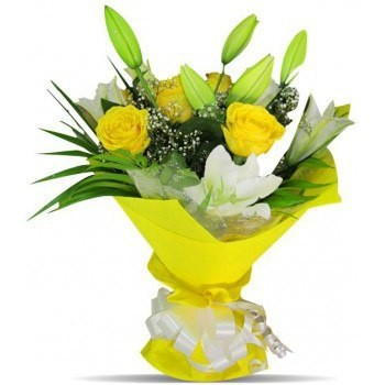 Bangalore flowers  -  Sunny Day Flower Bouquet/Arrangement