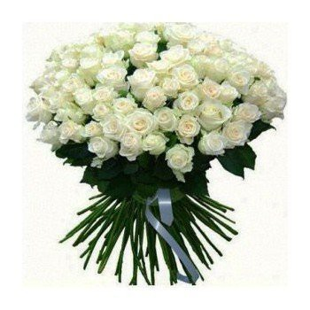 Huelva flowers  -  Snow White Flower Bouquet/Arrangement