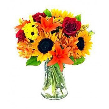 fleuriste fleurs de Promenade orange- Carnaval Bouquet/Arrangement floral