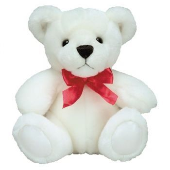 Benalmadena flowers  -  White Teddy Bear Delivery