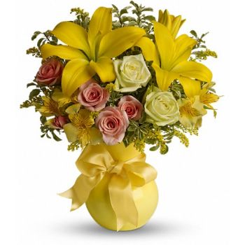 Al-Barsha 3 blomster- Citrus Kissed Blomst buket/Arrangement