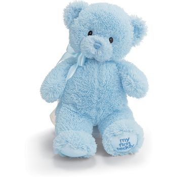 Hato Mayor bunga- Biru Teddy Bear  Penghantaran