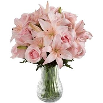fleuriste fleurs de Indonésie- Blush rose Bouquet/Arrangement floral