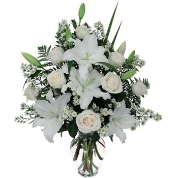 Belize flowers  -  White Beauty Flower Bouquet/Arrangement