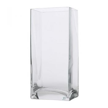 Curacao flowers  -  Rectangular Glass Vase Flower Delivery