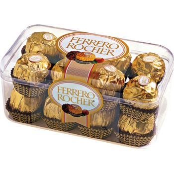 Milan flowers  -  Ferrero Rocher Chocolates  Flower Delivery