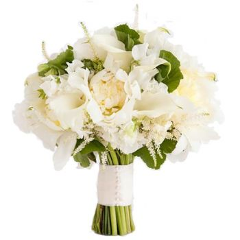Barbados flowers  -  Ivory Romance  Flower Bouquet/Arrangement