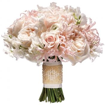 Barbados flowers  -  Blushing Romance Flower Bouquet/Arrangement