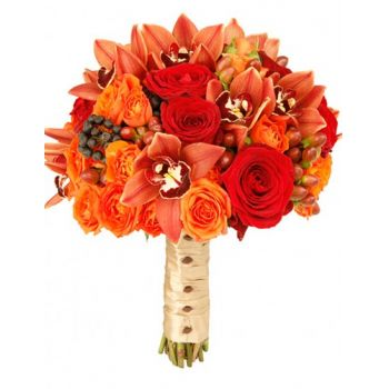 Puerto Rico flowers  -  Autumn Romance Flower Bouquet/Arrangement