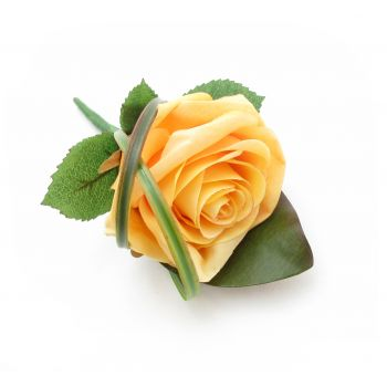 St. Thomas flowers  -  Rose Buttonhole Flower Bouquet/Arrangement