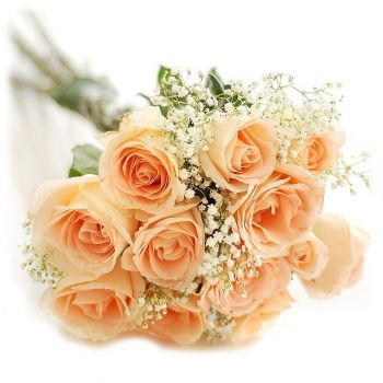 Madrid flowers  -  Peach Romance Flower Bouquet/Arrangement