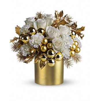 Santo Domingo flowers  -  Golden Festival Flower Bouquet/Arrangement