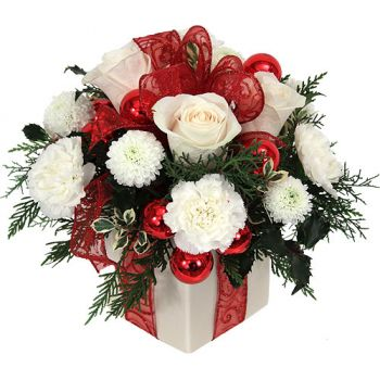 Bosnia & Herzegovina flowers  -  Festive Surprise Flower Bouquet/Arrangement