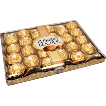 Abu Dhabi flowers  -  Ferrero Rocher Chocolates  Flower Delivery