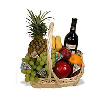 St. Lucia flowers  -  Mixed Gift Basket Flower Delivery