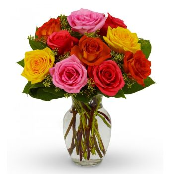 Genoa flowers  -  Colour Burst Flower Bouquet/Arrangement