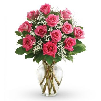 Poti flowers  -  Pink Delight Flower Delivery
