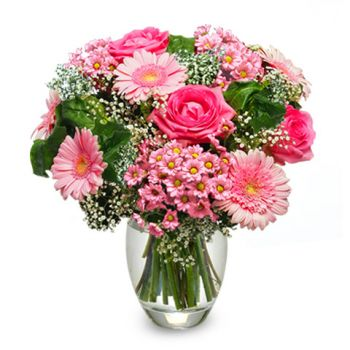 Santo Domingo flowers  -  Lovely Lady Flower Bouquet/Arrangement